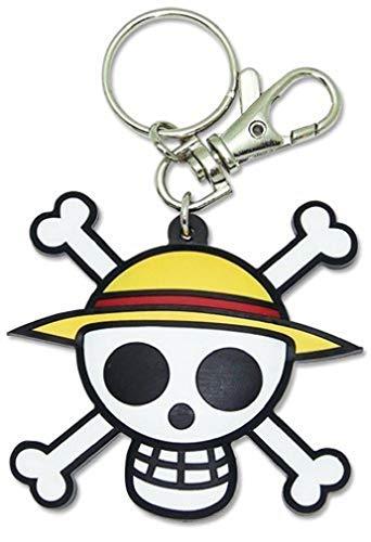 One Piece: Pvc Keychain Luffy's Jolly Roger Straw Hat Pirates Logo (Best Straw Hat Pirate)