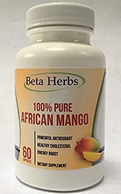 100% Pure African Mango Extract Cleanse (60 Capsules) with Maqui Berry and Green Tea Extract for Fast Fat Burning, Weight Loss Diet Supplements, Natural Appetite suppressant.