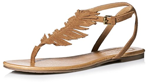 Corso Como Dames Cayman Feather Sandaal Tan