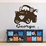 great kidsroom wall decals Tow Mater Wall Decal - Disney Pixar Cars Personalized Wall Decor - Removable Vinyl Decoration for Boy's Bedroom, Playroom or Gameroom. Great for Dr. Office Decor
