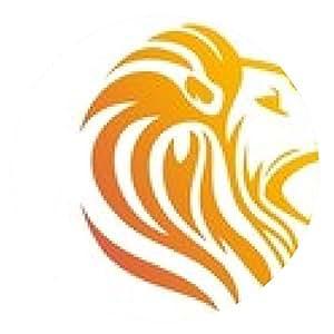 alfombrilla de ratón logotipo de león, símbolo de cabeza de león, silueta icono carnívoro - ronda - 20cm
