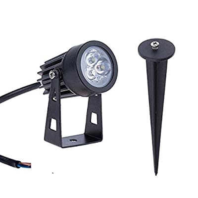 Lemonbest 6W Outdoor LED Landscape Lighting LED Mini Garden Light Lamp Path Lawn Spotlight 110V Cool white
