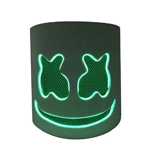 Marshmello Helmet Top 10 DJs Music Festival Marshmallow Head Mask Novelty Costume