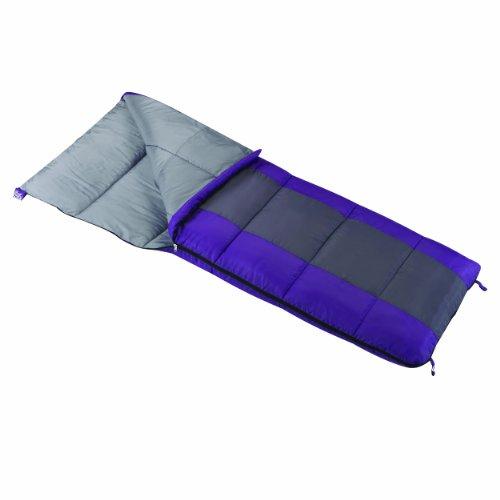 Wenzel Lakeside Women's 40-Degree Sleeping Bag, 3-Pound, Purple, Outdoor Stuffs