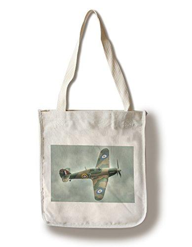 Lantern Press Hawker Hurricane - (Jeff Cook) (100% Cotton Tote Bag - Reusable)