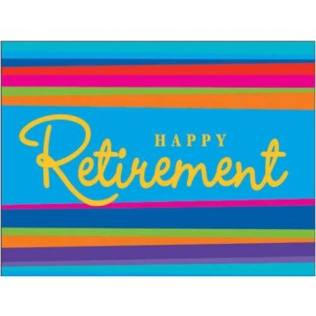 Retirement Stripes Invitations 8 Per Pack