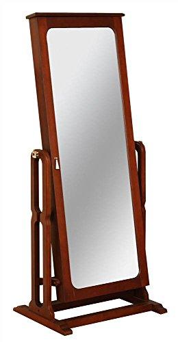 Powell Dakota Cheval Jewelry Wardrobe with Full-Length Mirror, Marquis Cherry