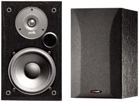 Polk Audio R15 2-Way Bookshelf Loudspeakers Pair, Black