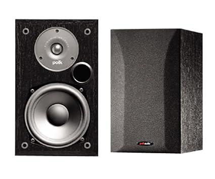 Polk Audio R15 2 Way Bookshelf Loudspeakers Pair Black