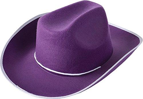 One Adult Purple Cowboy Hat