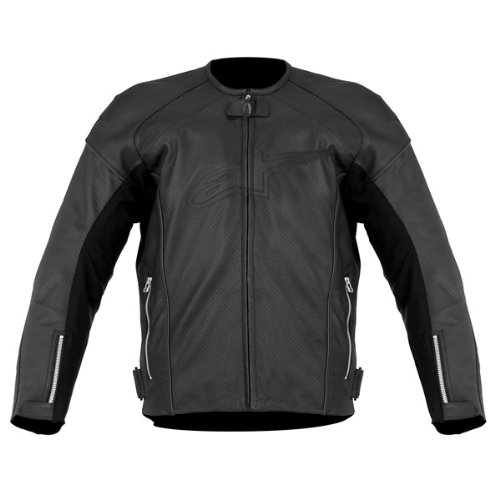 Alpinestars TZ-1 Reload Perforated Leather Men's Riding Jacket (Black, Size - Leather Jacket Tz1 Alpinestars