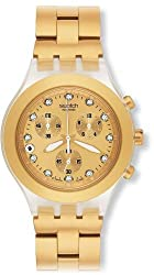 Swatch Men's SVCK4032G Stainless Steel Analog Watch with Gold Dial Watch from Swatch