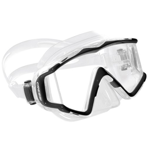 Cressi Pano 3 Mask, Lime Green/Clear