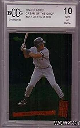 Derek Jeter 1994 Classic C17 Cream Of The Crops Rookie Card
