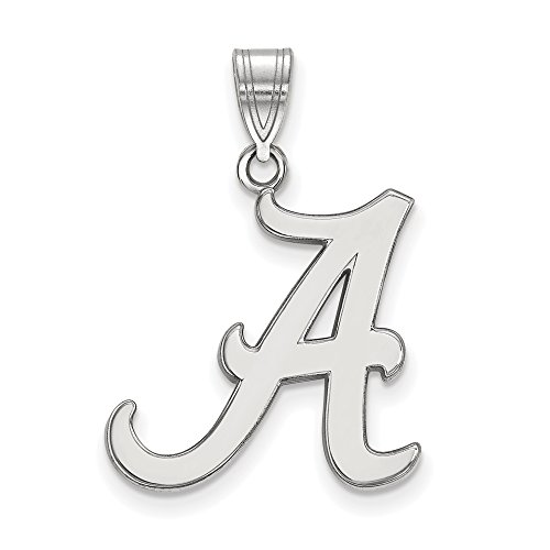Alabama Large (3/4 Inch) Pendant (14k White Gold) by LogoArt