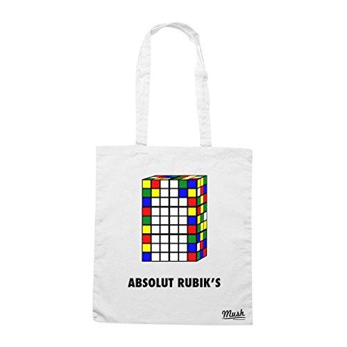 Borsa Absolute Rubik'S - Bianca - Famosi by Mush Dress Your Style