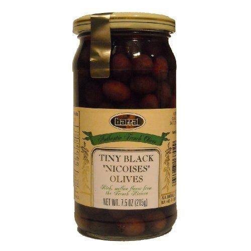 Barral, Tiny Black Nicoise Olives, 7.5 Ounce Jars