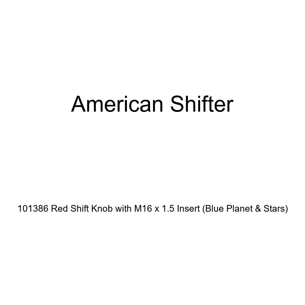 American Shifter 101386 Red Shift Knob with M16 x 1.5 Insert Blue Planet /& Stars