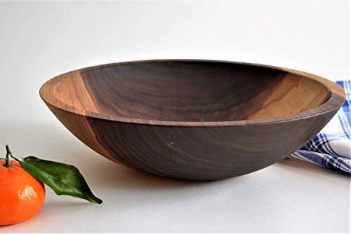 Large Solid Wooden Salad Bowl 12