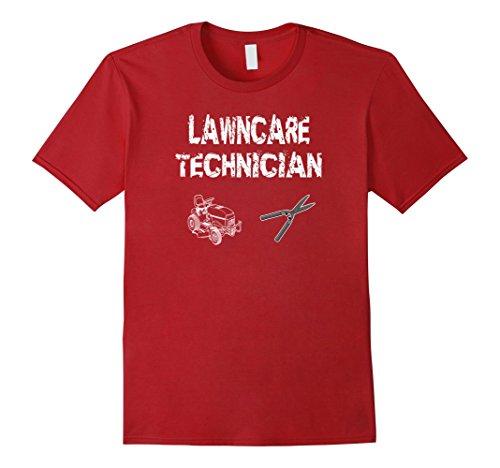 Mens Lawn Care T Shirt Gift Idea Lawn Maintenance Mowing Grass T Large Cranberry