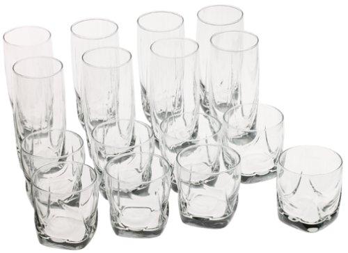 amazoncom libbey 16piece imperial glassware set drinkware sets mixed drinkware sets - Libbey Glassware