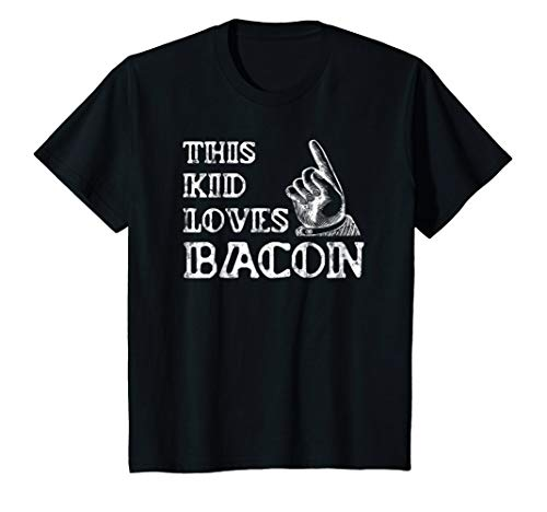 Kids Bacon Gifts for Kids Shirt-Bacon Lovers: Bacon Gifts Funny T 8 Black