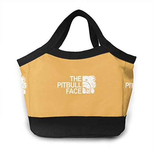 FKCUYPL Waterproof Lunch Bags The Pitbull Face Tote Bag Large for Work