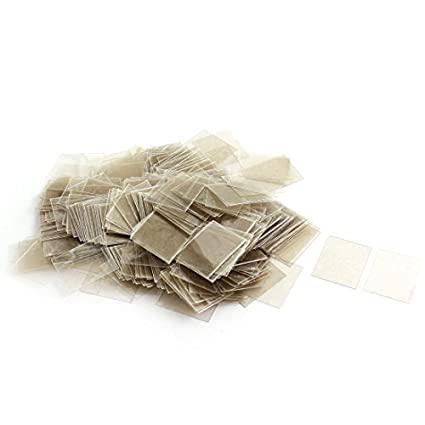 Amazon.com: eDealMax 500Pcs de 18 mm x 22 mm x 0,09 mm Mica ...