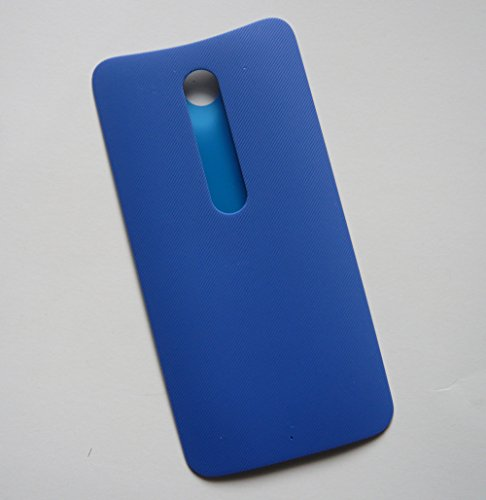 Blue Building DIY Yourself Back Rear Housing Battery Door Cover Panel + Adhesive Glue Tape For Moto X Style (Moto X Pure Edition) (Rear Battery Cover)
