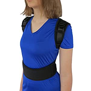 """ComfyMed® Posture Corrector Clavicle Support Brace CM-PB16 Medical Device to Improve Bad Posture, Thoracic Kyphosis, Shoulder Alignment, Upper Back Pain Relief for Men and Women (REG (29""""-40"""" Chest))"""