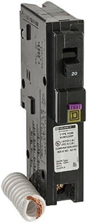 Square D Circuit Breaker HomeLine 20 Amp Dual CAFI//GFCI HOM120PDFC NEW