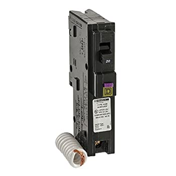 Square D by Schneider Electric HOM120DFC Homeline 20-Amp Single-Pole Dual Function Circuit Breaker, 1-Inch Format