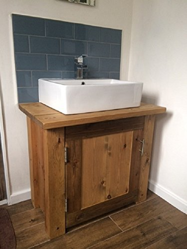 Genial HANDMADE SOLID WOOD BATHROOM VANITY UNIT TV CABINET SIDE TABLE FINISHED IN  OAK