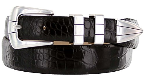 Leather Alligator Dress Belt - 5