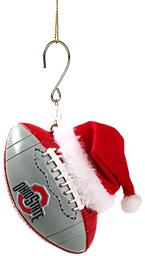 Ohio State Buckeyes Logo Football Christmas Ornament