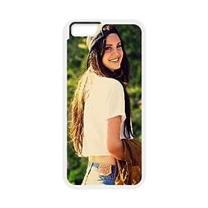 DAFUWENG(TM) Diy Customized Phone Case Lana Del Rey Pattern for iphone 6s (4.7 inch) White