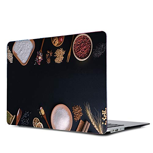 Onkuey Painting Pattern Rubberized Plastic Hard Case Shell Cover for Old MacBook Pro 13 Inch (A1278, with CD-ROM), Release Early 2012-2008, Japanese - 2008 Tableware