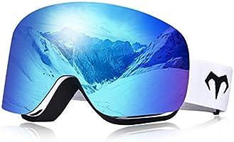 MARSQUEST スキーゴーグル スノーゴーグル 100%UVカット REVOミラーレンズ 摩擦防止 広視野 UV400 ダブルレンズ 曇り止め 2層スポンジ ベルト調節可能 スノーボードゴーグル 通気 超抗衝撃 スキー・登山・アウトドア用...