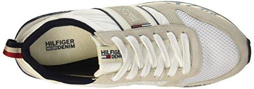 Tommy Hilfiger T2385RACK 1C, Scarpe Low-Top Uomo Bianco (Ice/Off White 469)