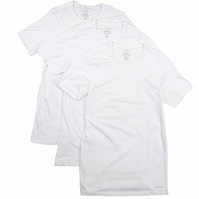 Calvin Klein Men's Undershirts Cotton Classics 3 Pack Slim Fit Crew Neck T-Shirts