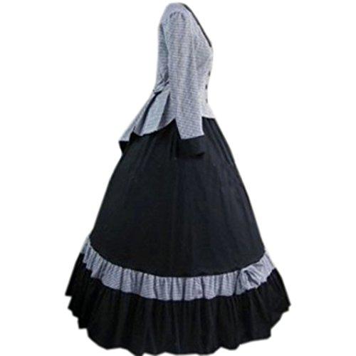 Lolita Als Viktorianisch Partiss Gothic Damen Kostuem Mittelalterlichen Vintage Bild Ballkleid Bodenlange wx7x0zq
