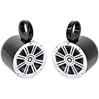 Pair Kicker 41KM604W 6.5 KM-Series 150 Watt Marine Wakeboard Tower Speakers