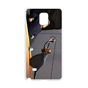 Samsung Galaxy Note 4 Cell Phone Case White Meet the Robinsons Character Bowler Hat Guy Z1J8X