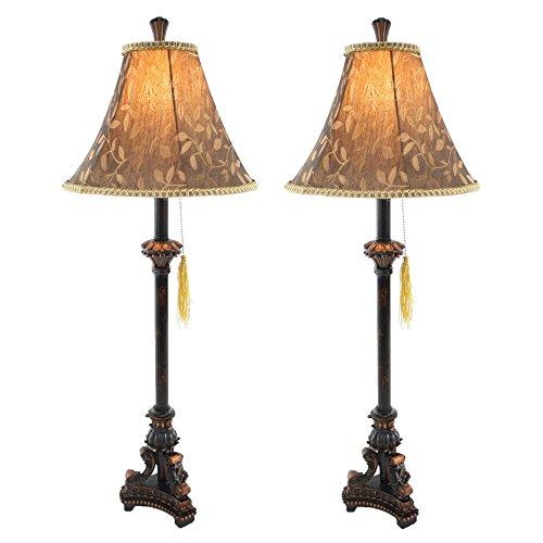 Aspire eleanor buffet lamp set of 2 black brown