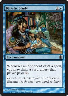 Magic: the Gathering - Rhystic Study - Commander's Arsenal - Foil
