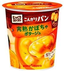ポッカサッポロ じっくりコトコトこんがりパン 完熟かぼちゃポタージュ カップ入り 34.5g×6個入×(2ケース)