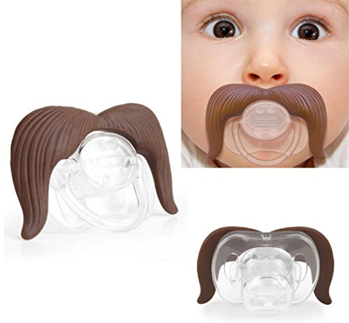 Baby Kids Bay Girl Neonatal Funny Teeth Mustache - Cloves Chewing Gum