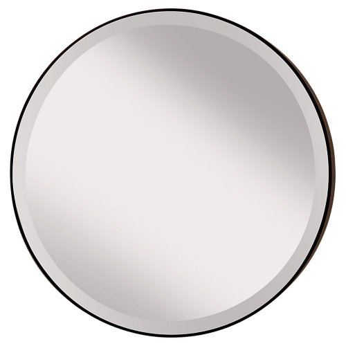 - Feiss MR1127ORB Rounded 28.5 inch Diameter Mirror, Oil Rubbed Bronze