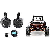 (2) Rockville 5.25 Tower Speakers+Bluetooth Receiver 4 Polaris RZR/ATV/UTV/CART
