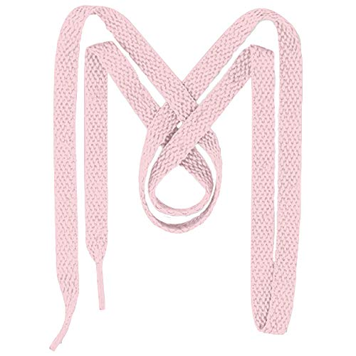 Mercury + Maia Flat Sneaker Laces - 2 Pair Pack - Shoe Strings for Sneakers (27, Pale Pink)
